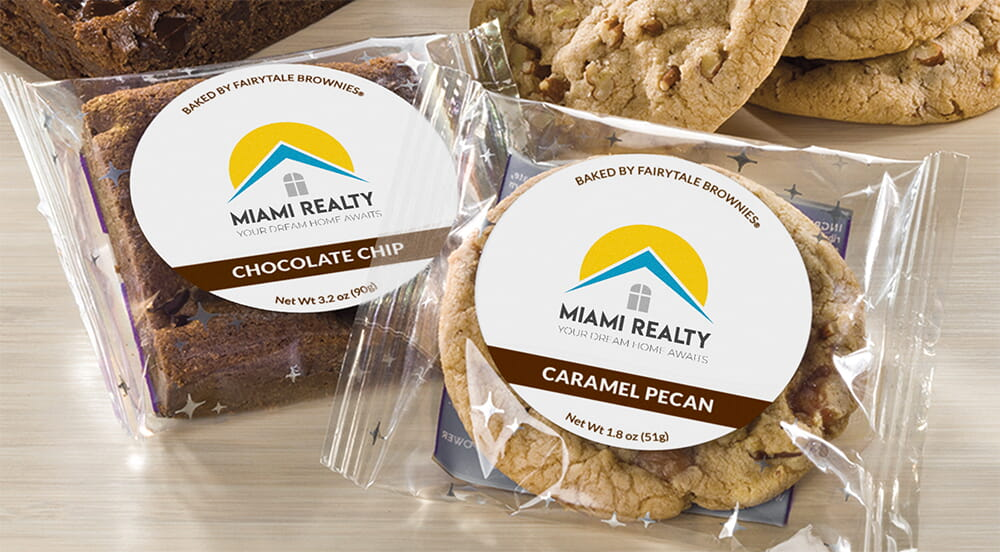 Custom Logo Label Brownies & Cookies