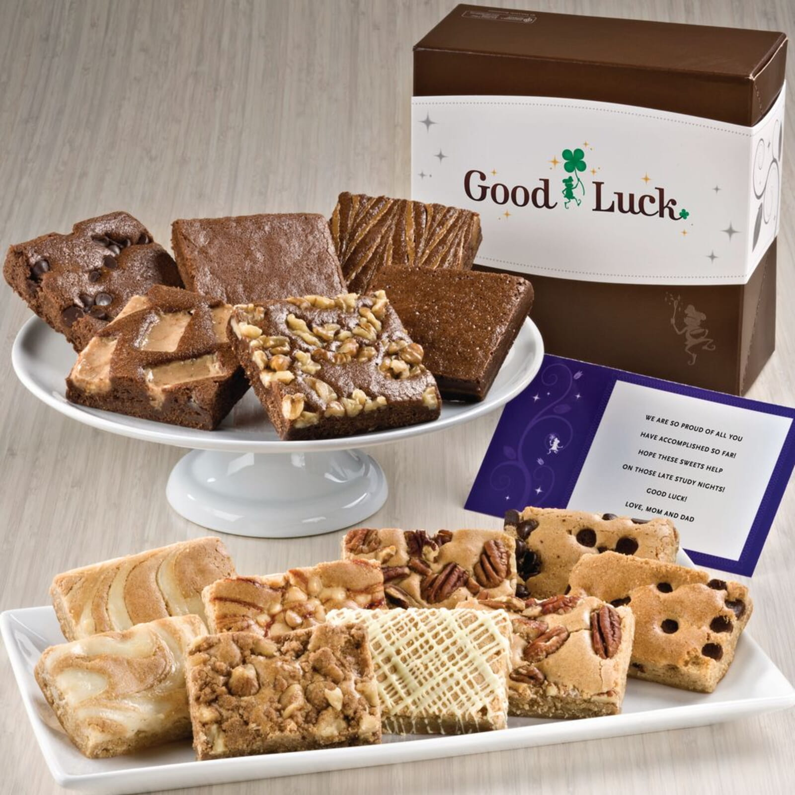Good Luck Bar & Brownie Combo
