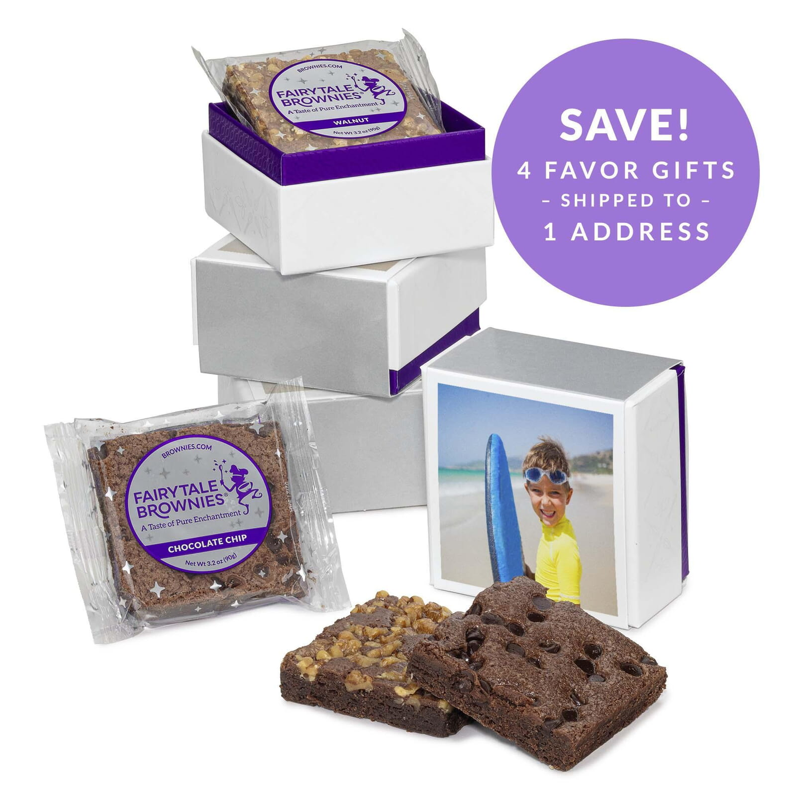 SET OF FOUR Photo 2-Brownie Favor