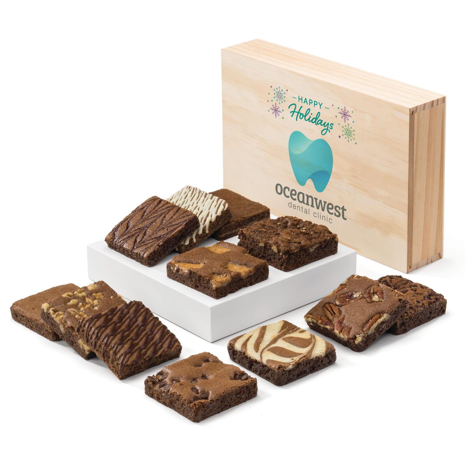 Custom Holiday Wooden Box Dozen