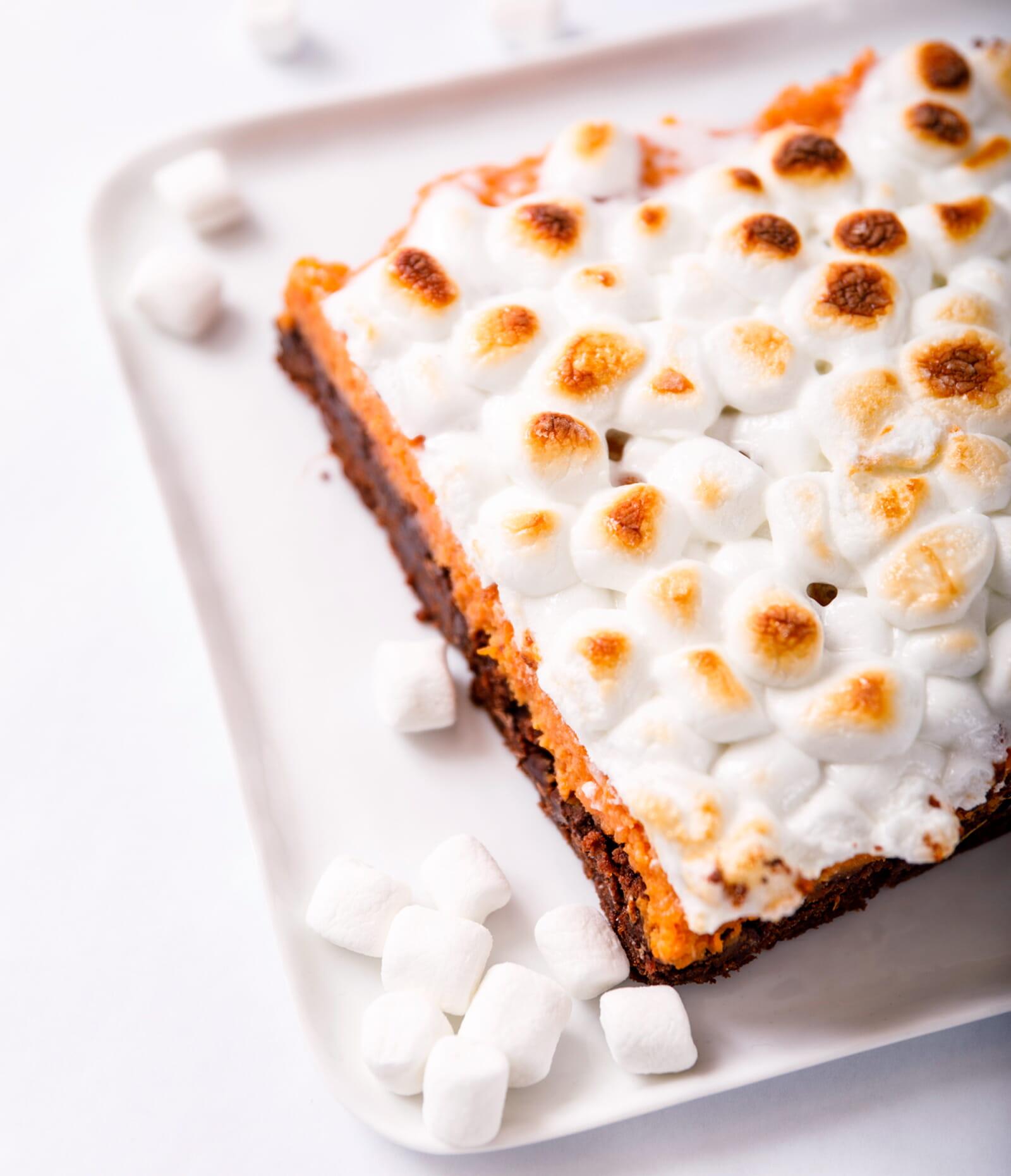 get pecan brownie with sweet potato casserole recipe