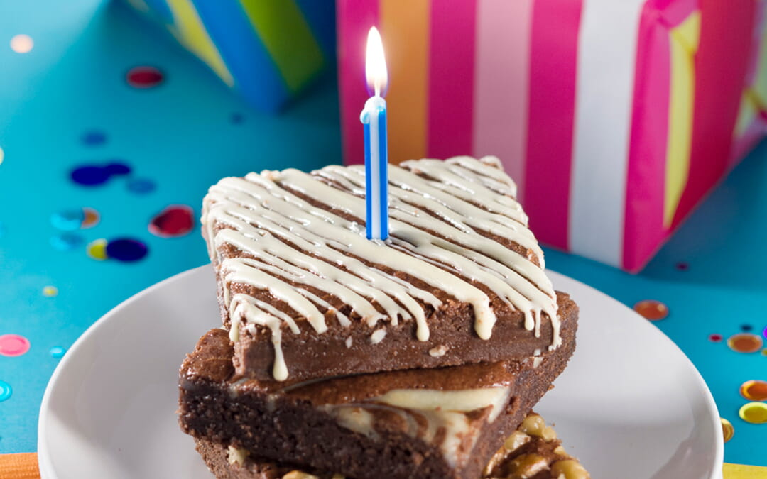 Upgrade Your Day with Birthday Brownies
