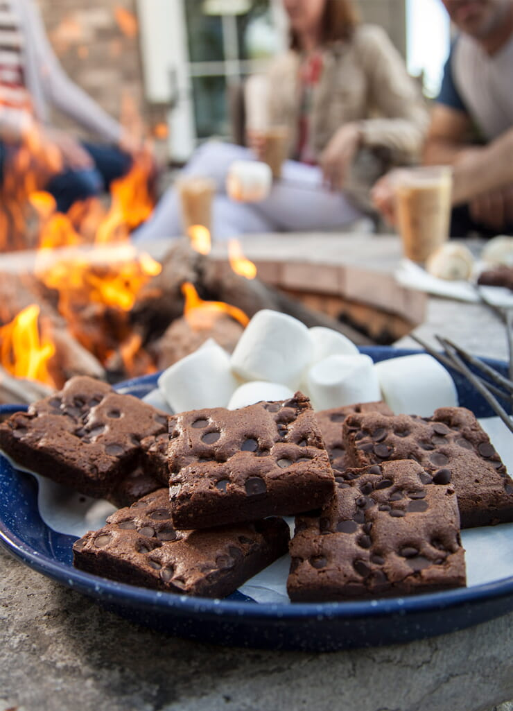 Brownie by the campfire