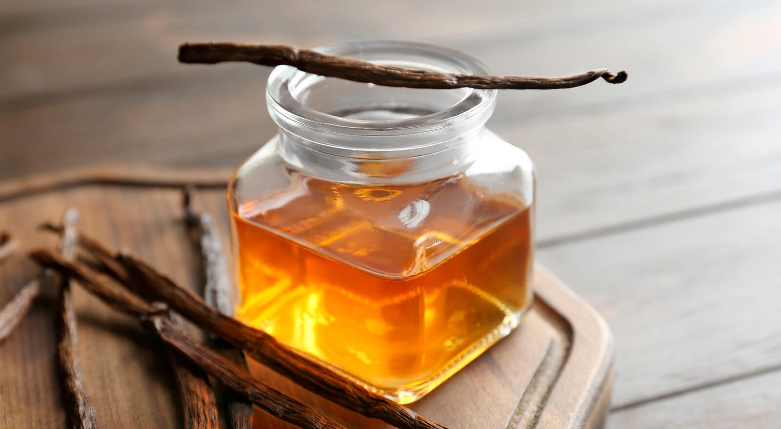 Jar of vanilla extract
