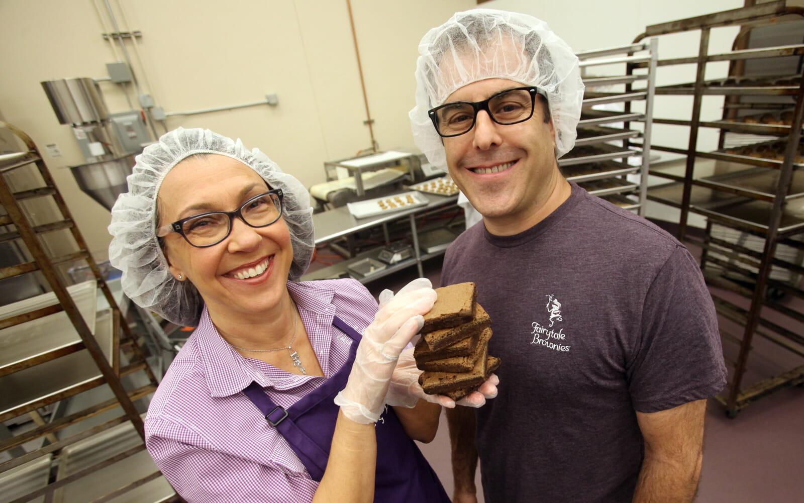 David and Eileen in the bakery