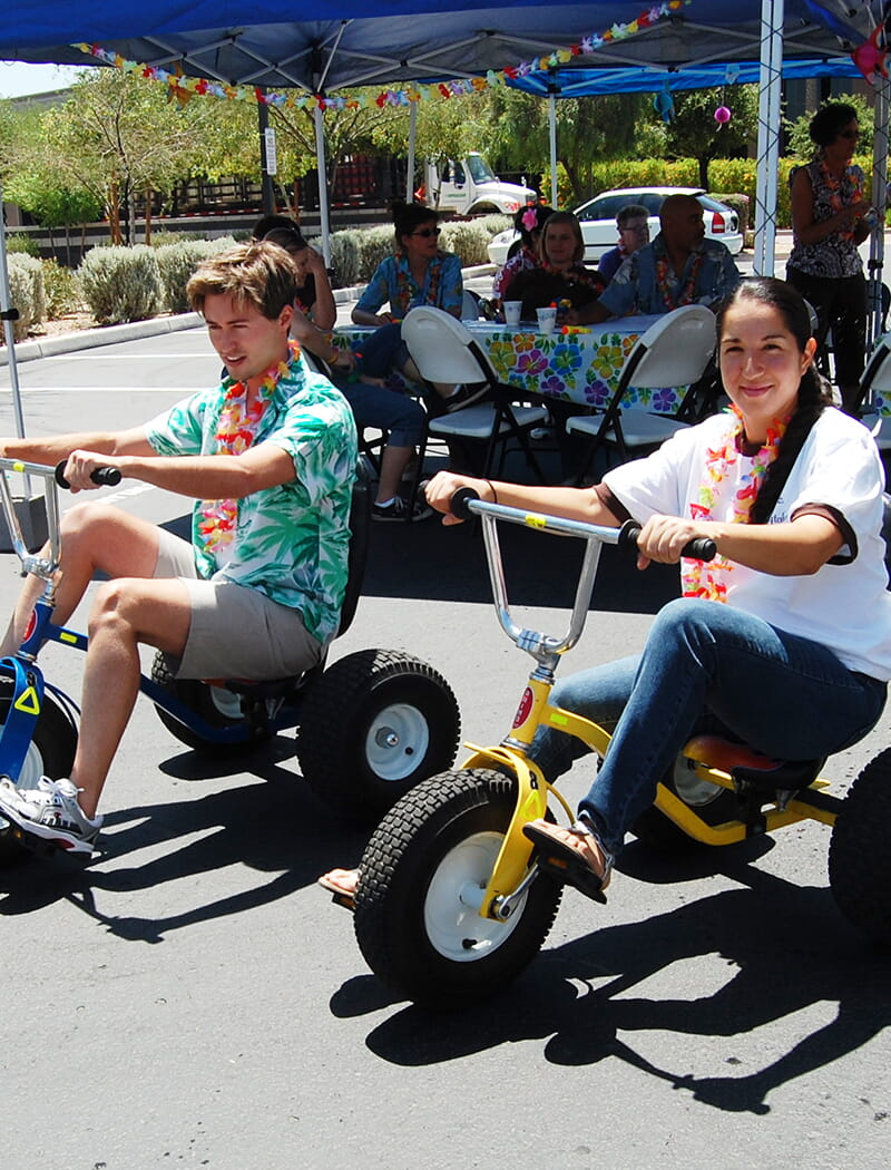 have fun with a trike race